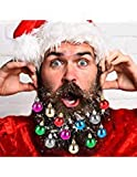 Beard Ornaments, 12pc Colorful Beard Ornaments Christmas Facial Hair Baubles Clips for Men Holiday Decoration
