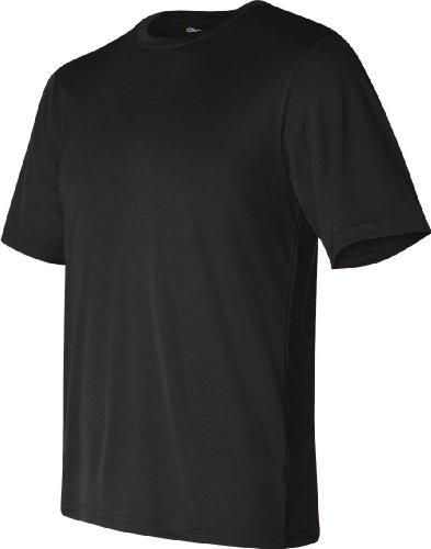 Champion de hombre 4oz. doble seco rendimiento camiseta Negro