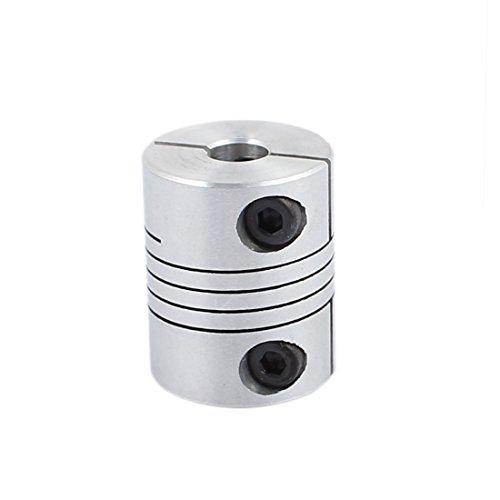 uxcell 6.35mm to 8mm Shaft Coupling 25mm Length 20mm Diameter Stepper Motor Coupler Aluminum Alloy Joint Connector for 3D Printer CNC Machine DIY Encoder