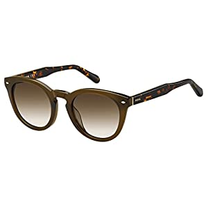 Fossil Women's Fos 2060/s Round Sunglasses, Brown, 48 mm