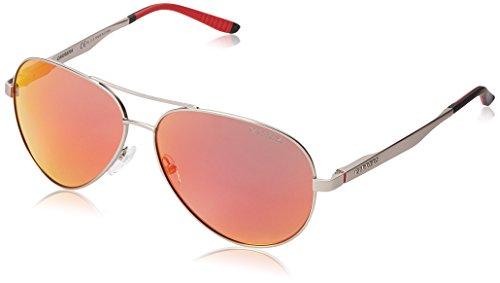 Carrera CA8010S Polarized Aviator Sunglasses, Matte Palladium & Red Polarized, 59 - Red Sunglasses Carrera