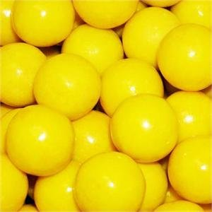 Yellow 1 Inch Gumballs, 2LBS]()