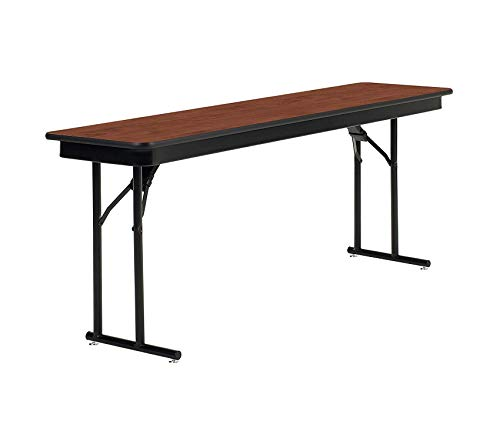 Home Style Emissary Folding Table with Heritage Top, 72 x 18 x 29, Brighton Walnut