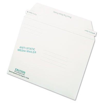Antistatic Fiberboard Disk Mailer, 6 x 8 5/8, White, Recycled, (Anti Static Fiberboard Disk Mailers)