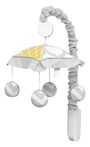 (GEENNY Musical Mobile, Yellow & Gray)