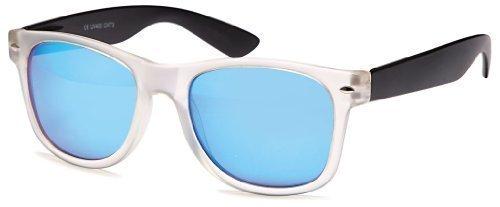 Gläser verspiegelt Sense42 Pilotenbrille Retro Sonnenbrille transparent