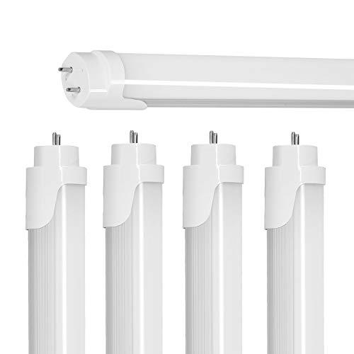 4FT LED Tube Light,T8 LED Bulbs 4 Foot 5000K Daylight White,18W(40W Replacement),2000LM Super Bright,Single-end Power,G13 Fluorescent Tube Light Bulb,Warehouse, Shop Lights, DL&DLC Cert – 4Pack