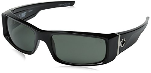 Spy Optic Hielo 670375038864 Polarized Flat Sunglasses, 56 mm (Black/Happy Gray/Green - Spy Green Sunglasses