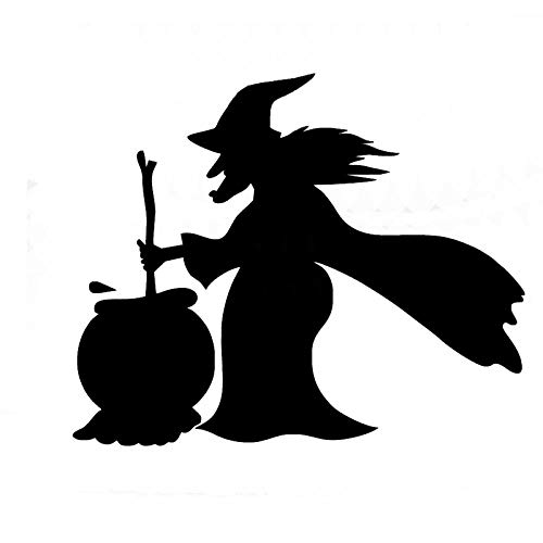 - 1512cm Witches Making Pharmacy with Cauldron Car Decal Window Bumper Halloween Sticker White