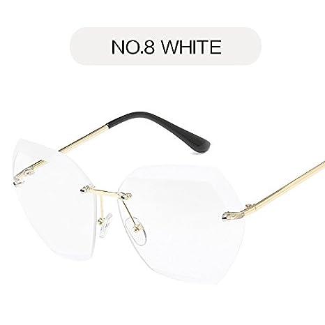 TIANLIANG04 Sin Reborde Gafas de Sol para Mujer de Corte de ...