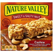 Nature Valley Sweet & Salty Nut Cashew Granola Bars, 1.2 Oz, 6 Count