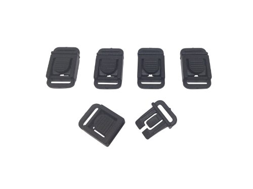 FMS 3/8 Inch Side Release Buckle (Flat) (10 Pack)