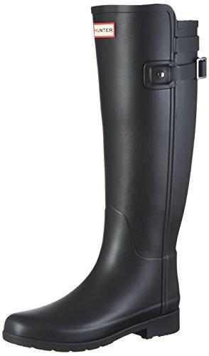 Price comparison product image Hunter Women's Original Refined Back Strap Rain Boots Black 7 M US