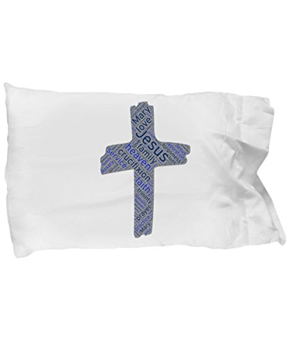 Pillow Case Catholic Cross Jesus Heaven Christ Service Faith Family Holy Prayer by 100 Hot Buys