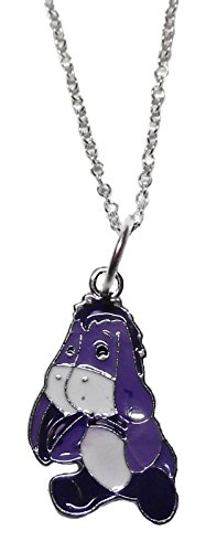 [Walt Disney's EEYORE Character Metal/Purple Enamel PENDANT on 18