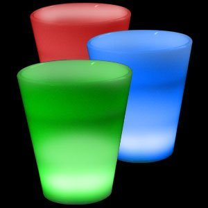 Fun Central I771 Glow in the Dark LED Light Up Shot Glass - 2 oz. Multicolor