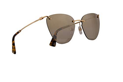 Valentino VA 2022 Sunglasses Gold w/Mirror Light Gold Gradient Lens 58mm 30027I VA2022S VA2022/S VA2022