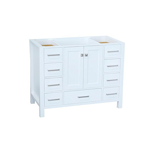 """ARIEL 42"""" inch White Bathroom Vanity Base Cabinet with ..."""