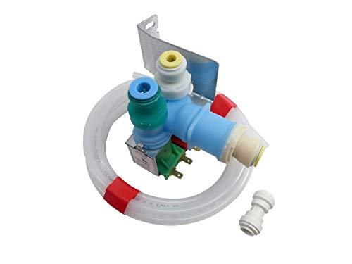(KS) W10408179 4389177 New Water Inlet Valve Kit Exact Replacement for Whirlpool ()