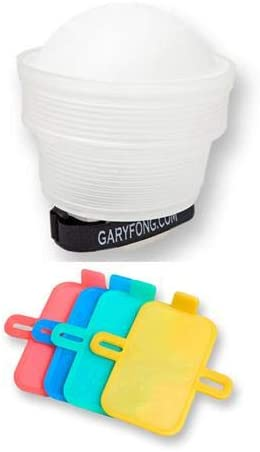 Gary Fong Lightsphere Collapsible Speed Mount with Patented Mounting System for Lightsphere Collapsible Bundle 4-Piece Color Set
