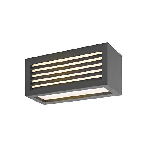 SLV Caja L, LED exterior de pared y techo (, antracita, IP44, 3000 K, 19 W Lámpara, aluminio, 19 W