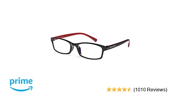 80a01139ed Amazon.com   PROSPEK - Premium Computer Glasses - Professional - Blue Light  and Glare Blocking (+0.00 (No Magnification)
