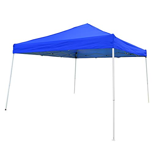 OTLIVE Slant Leg Canopy Tent Waterproof 10×10 Top Pop Up Portable Instant Folding Canopies with Carry Bag Blue