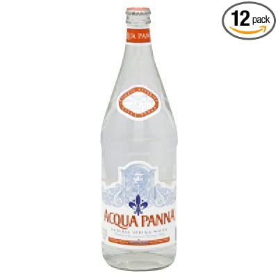 Aqua Panna Spring Water, 1 Liter (12 Glass Bottles) Acqua Panna