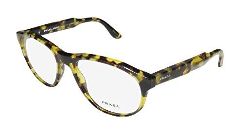 Prada Titanium Eyeglasses - Prada Vpr12s-F Mens/Womens Designer Full-rim Flexible Hinges Eyeglasses/Eye Glasses (54-18-145, Green Tortoise)