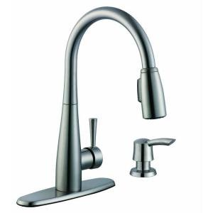 Superbe Glacier Bay 900 Series Single Handle Pull Down Sprayer Kitchen Faucet In  Stainless Steel