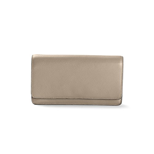 Katy Snap Wallet - Full Grain Leather Leather - Ginger (gray) by Leatherology