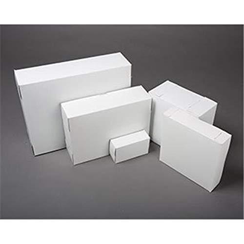 OKSLO 6280 white chipboard bakery box, 2 piece - case of 25
