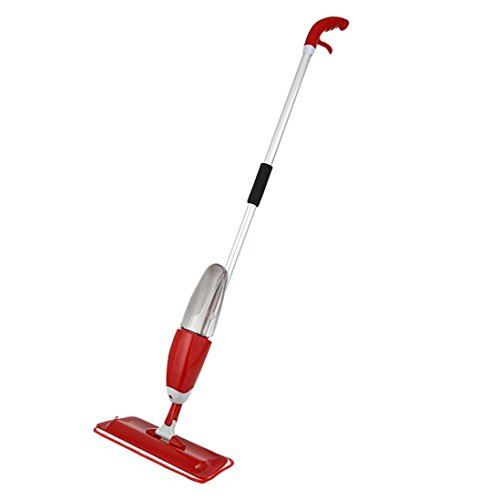Vibola Spray Mop Practical Household Dust Cleaning No Hand Wash (Red) - Household Swivel Mop