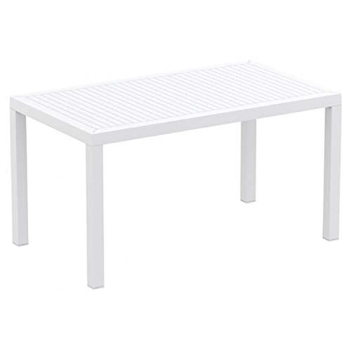 Compamia Ares Resin Rectangle Dining Table White