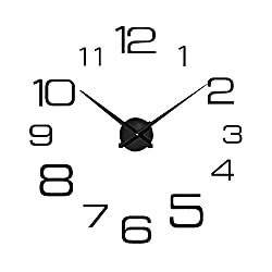 Giulot Modern Mute DIY Frameless DIY Wall Clock, 2-Year Warranty 3D Mirror Wall Clock Large Mute Wall Stickers for Living Room Bedroom Home Decorations