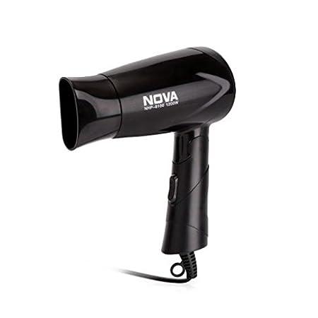 Nova Silky Shine 1200 W Hot And Cold Foldable NHP 8100 Hair Dryer (Black)