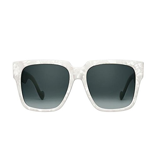 PERVERSE sunglasses Buh Bye Paparazzi Super Oversized Sunglasses (Glossy White Pearlized, Black - Buh Bye