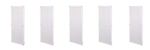 Muscle Rack CPB2-WT Steel Pegboard 2 Pack, White, 32'' Height, 16'' Width, 1'' Length (5-(Pack)) by Muscle Rack (Image #1)