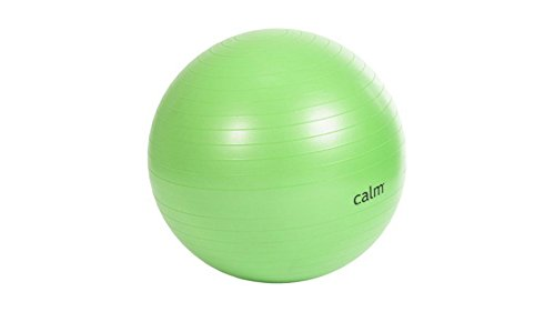 Calm Fitness Accessories 65 cm Durable Anti-Burst Green Exercise Ball by The Calm Company