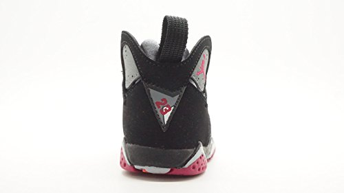 quality design a1e49 28849  705418-008  AIR JORDAN AJ 7 RETRO GT TD TODDLERS SNEAKERS AIR JORDANBLACK  SPRT FCHS CL GRY WLFM