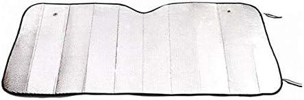 Silber 130x60cm Triamisu Hochwertige Auto Windschutzscheibe Sonnenschutz Abdeckung Casual Faltbare Abdeckung Vorne Hinten Sonne Reflektierender Schatten Auto Sonnenschutz Sonnenschutz