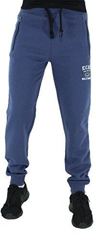 (Marc Ecko Mens Boys Hip Hop Star Sports Wear Jogging Jog Pants Gym Bottoms (S, Blue Indigo))