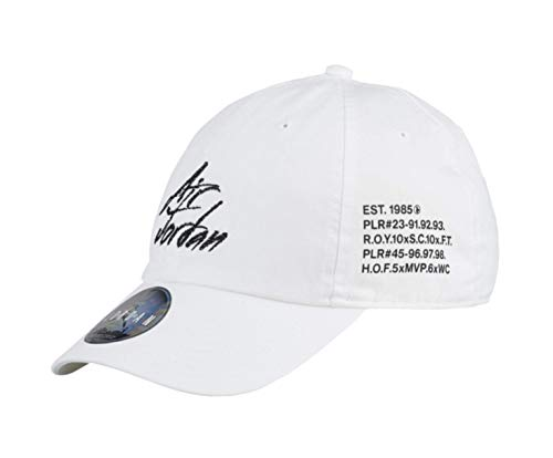 Jordan Men's Heritage 86 Script Adjustable Baseball Cap Hat White One - Baseball Jordan