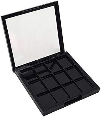 Lurrose 12 rejillas paleta de sombras de ojos vacía paletas de sombras de ojos de plástico recargables diy paleta de contenedores de maquillaje para niñas: Amazon.es: Belleza