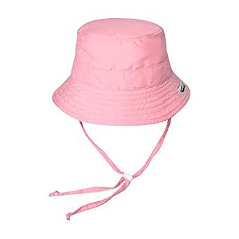 Vaenait baby Kids Unisex Sun Hat UPF 50+ Breathable Bucket Sun Protection Play Hat with Adjustable Chin Strap Mesh Lining - Pink - L (7-9T)
