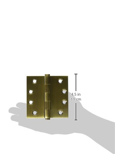 Deltana DSB45 Solid Brass 4-Inch x 4-Inch Square Hinge