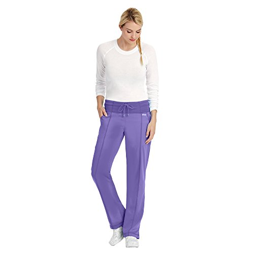 Grey's Anatomy Active Women's 4276 Yoga Knit Waist Scrub Pant- Passion Purple- Small