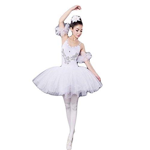 White Swan Ballet Costume (White Adult Ballet Dress/Sling Ballet Skirt/Swan Lake Costumes,XL)