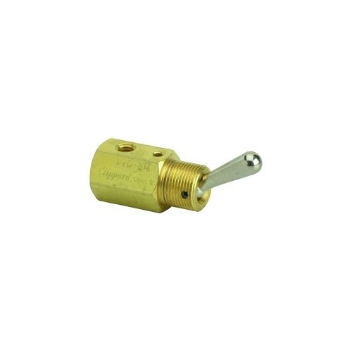 Clippard TVO-2M 2-Way Toggle Valve, N-O, Momentary Closed, Enp Steel Toggle, 10-32, 4.0 SCFM at 50 PSIG, 6.8 SCFM at 100 PSIG by clippard
