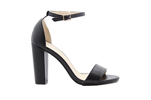 Party Shoes Womens STYLES Pu Size 8 Heel SAUTE 3 Strappy Sandals High Ladies Black Block Ankle Zv8EwdCqxw